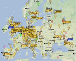 DX FT8 Map
